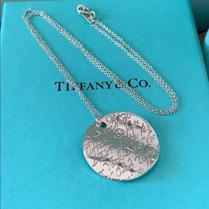 Tiffany & Co. notes necklace sterling silver 16 in
